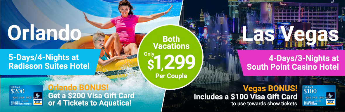 Two vacations for the Price of One!